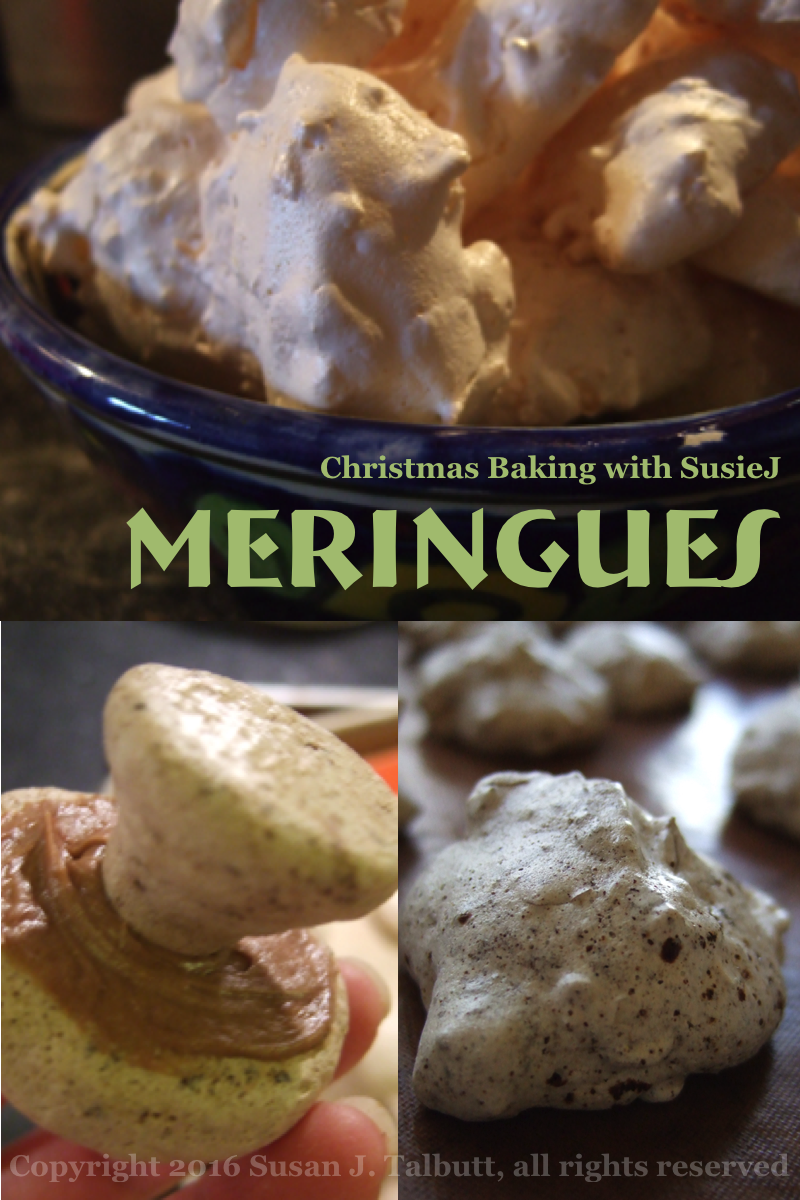 [A variety of meringue cookies; copyright 2016, Susan J. Talbutt, all rights reserved]